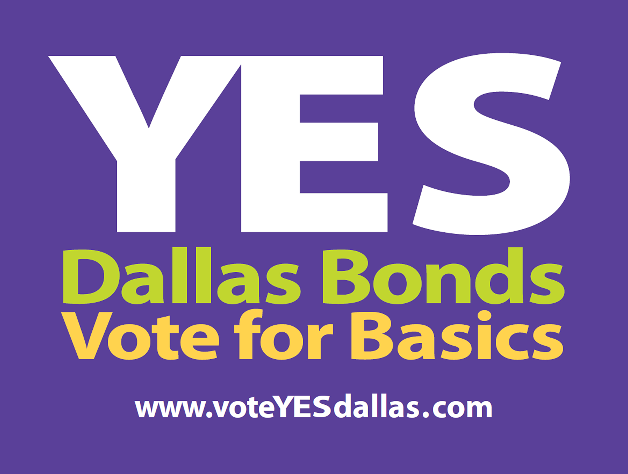 Vote Yes On The Dallas 2012 Bond Package Especially